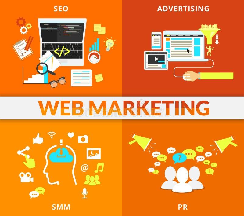 Sieć marketing royalty ilustracja