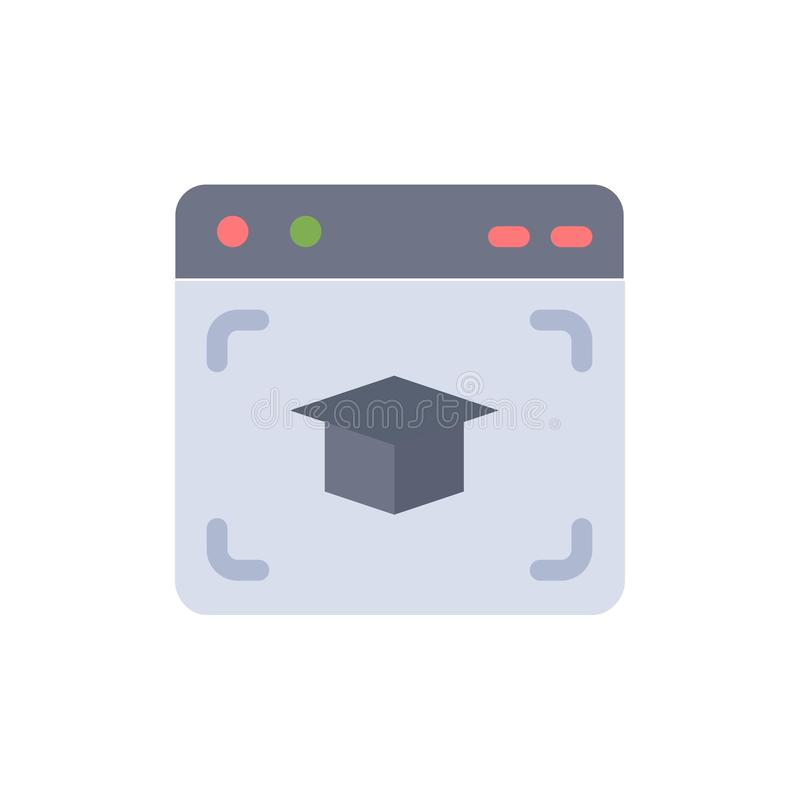 Sieć, nakrętka, edukacja, skalowanie koloru Płaska ikona Wektorowy ikona sztandaru szablon ilustracja wektor