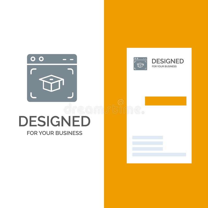 Sieć, nakrętka, edukacja, skalowanie logo Popielaty projekt i wizytówka szablon, ilustracji