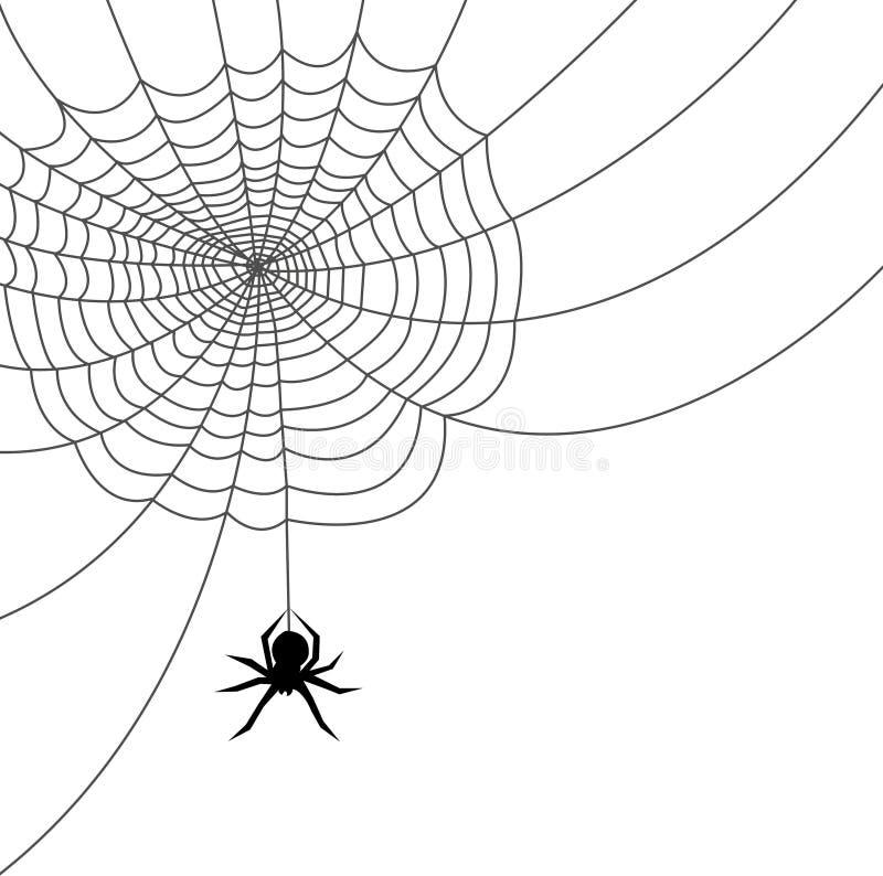sieć pająka ai plików royalty ilustracja