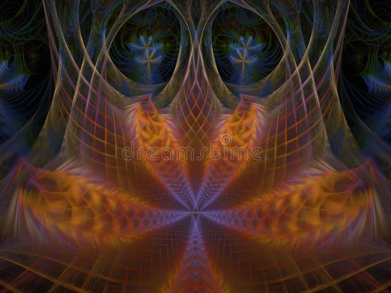 Sieć Phoenix płomienia Lotosowy Fractal royalty ilustracja