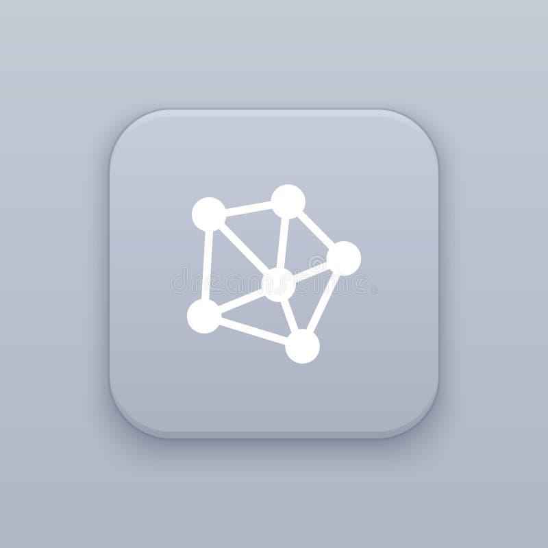 Sieć, podłączeniowy szary wektorowy guzik z białą ikoną ilustracji