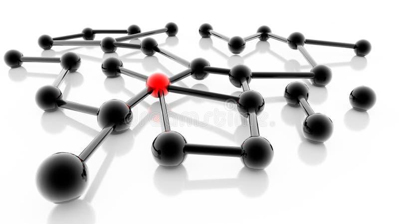 Sieć pomysłu ogólnospołecznych relatioships medialna komunikacja - 3d rendering royalty ilustracja
