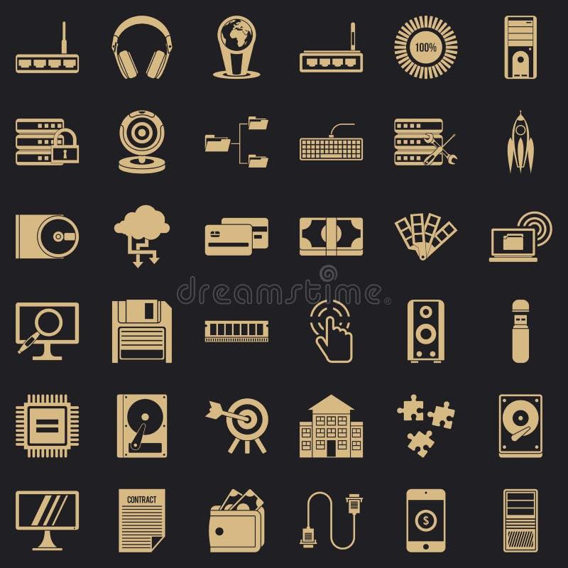 Sieć postępu ikony ustawiać, prosty styl royalty ilustracja