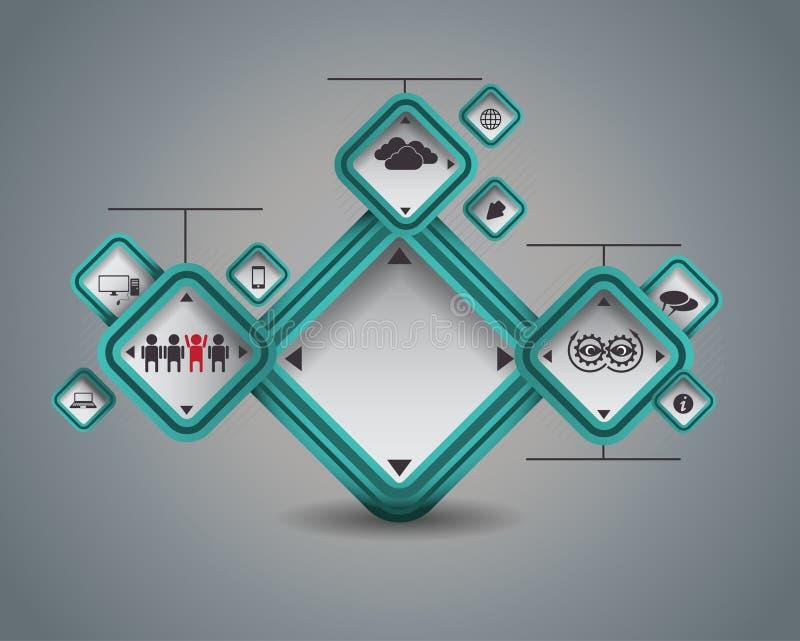 Sieć projekt ilustracji