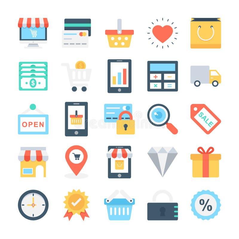 Sieć projekt i rozwój Wektorowe ikony 1 ilustracji