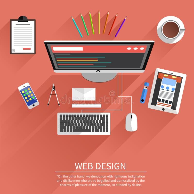 Sieć projekt Program dla projekta i architektury ilustracja wektor