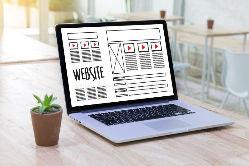 Sieć projekta układu nakreślenia rysunkowy oprogramowanie Medialny WWW i grafika obraz stock