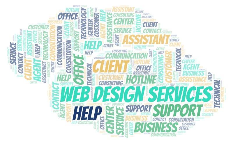 Sieć projekta usług słowa chmura ilustracja wektor