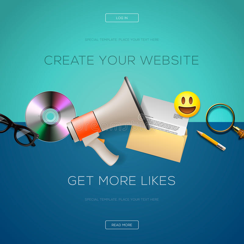 Sieć projekta zawartość, tworzy twój stronę internetową ilustracja wektor