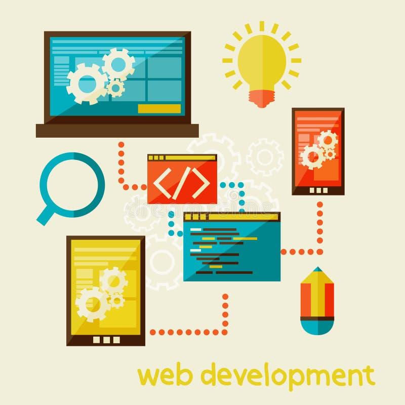 Sieć rozwój ilustracja wektor