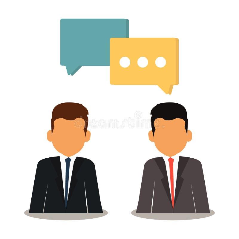 Sieć rozwój z biznesowego seo ordynacyjną komunikacją royalty ilustracja