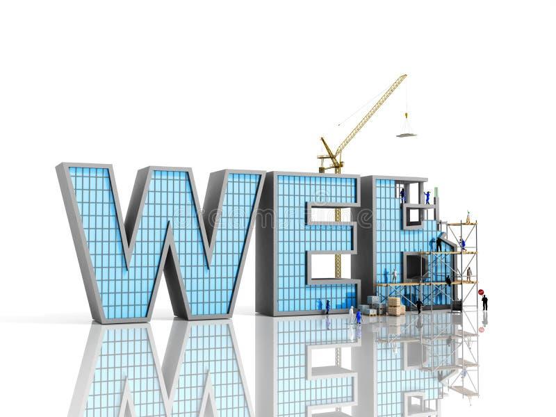 Sieć rozwoju pojęcia budowniczowie pracują na inskrypci ilustracji