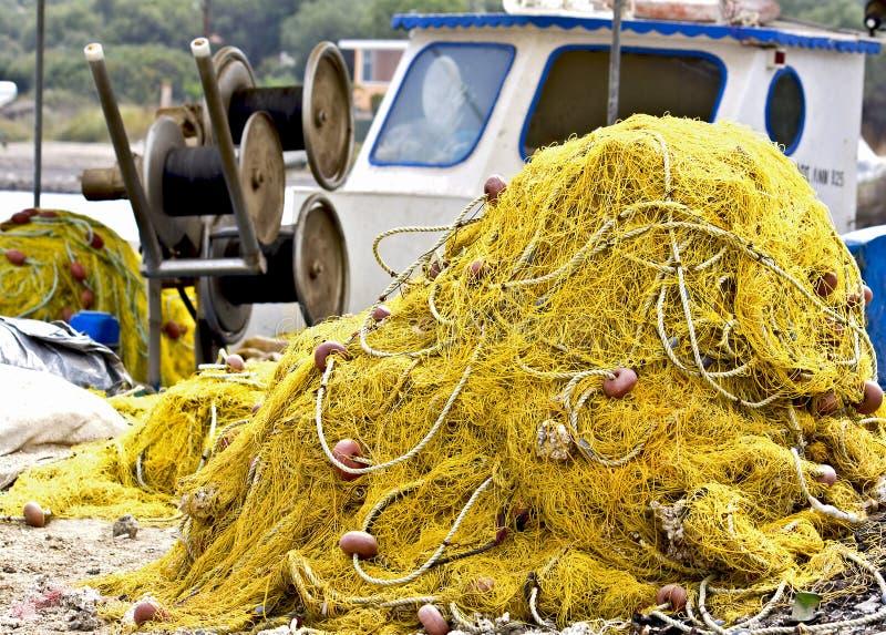 sieć rybacka tradycyjna obraz stock