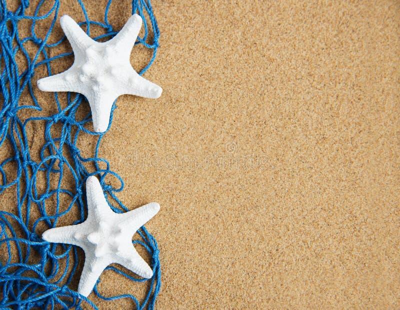 Sieć rybacka z rozgwiazdą zdjęcia stock