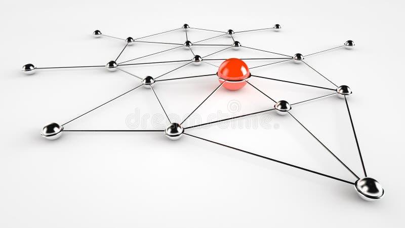 Sieć Serwer (Rewolucjonistka) royalty ilustracja