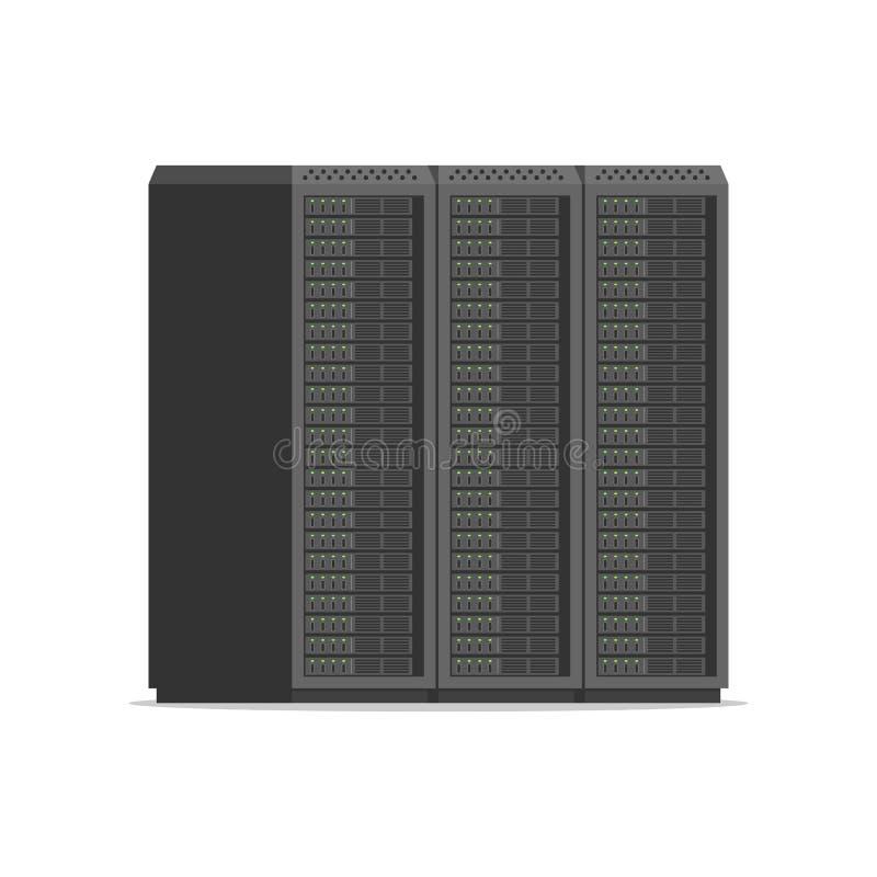 Sieć serweru stojaki royalty ilustracja