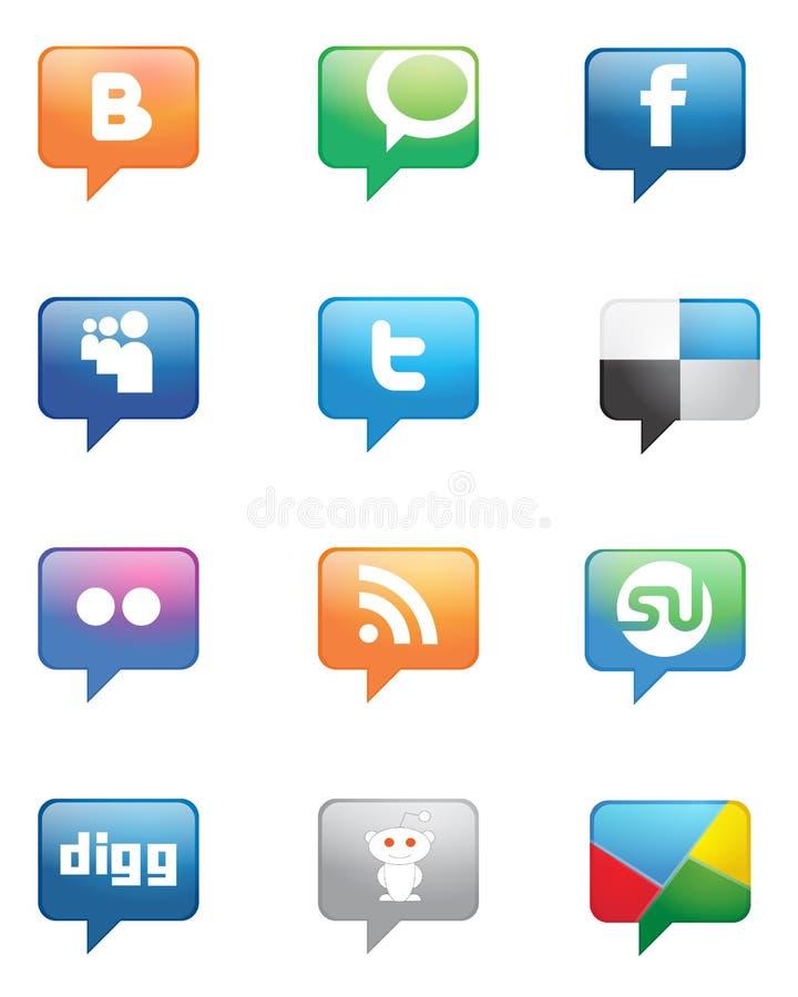 sieć socjalny royalty ilustracja