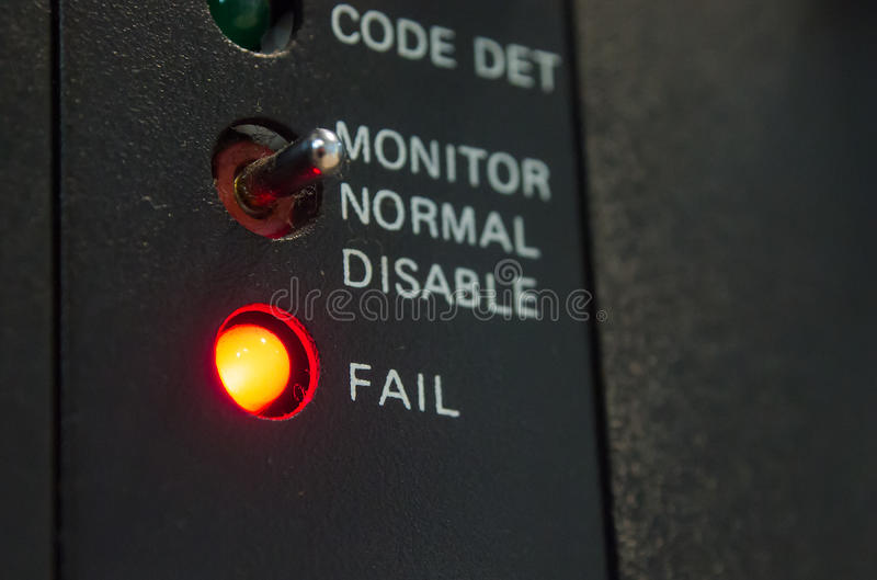 Sieć systemu Fail sytuacja obraz stock
