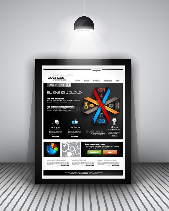 Sieć szablon z Infographics projektem ilustracji