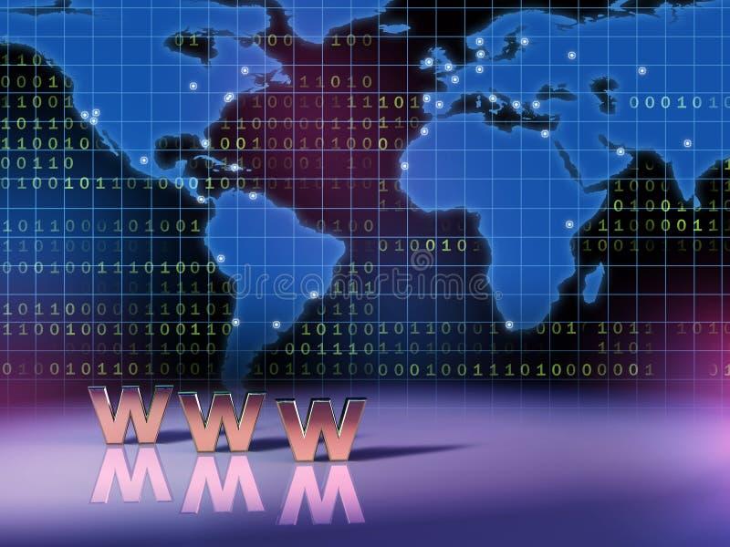 sieć szeroki świat ilustracji