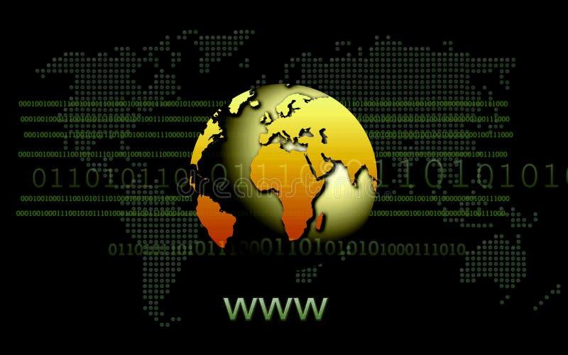 sieć szeroki świat royalty ilustracja