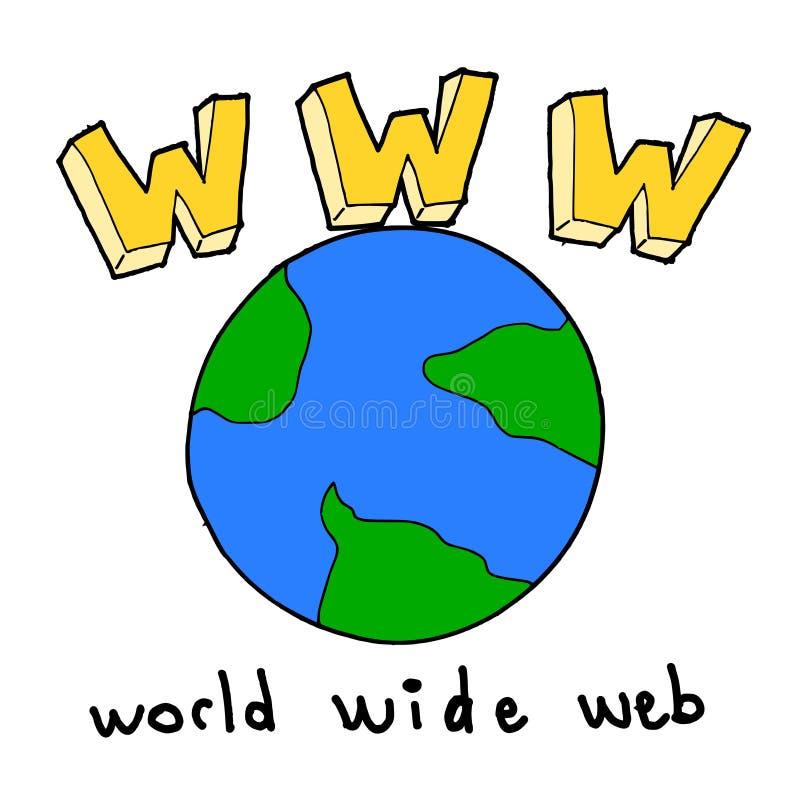 sieć szeroki światowy Www royalty ilustracja