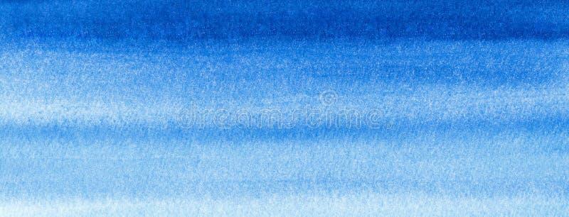 Sieć sztandaru marynarki wojennej lub żołnierza piechoty morskiej błękita akwareli pełni gradientowy tło Watercolour plamy Abstra royalty ilustracja