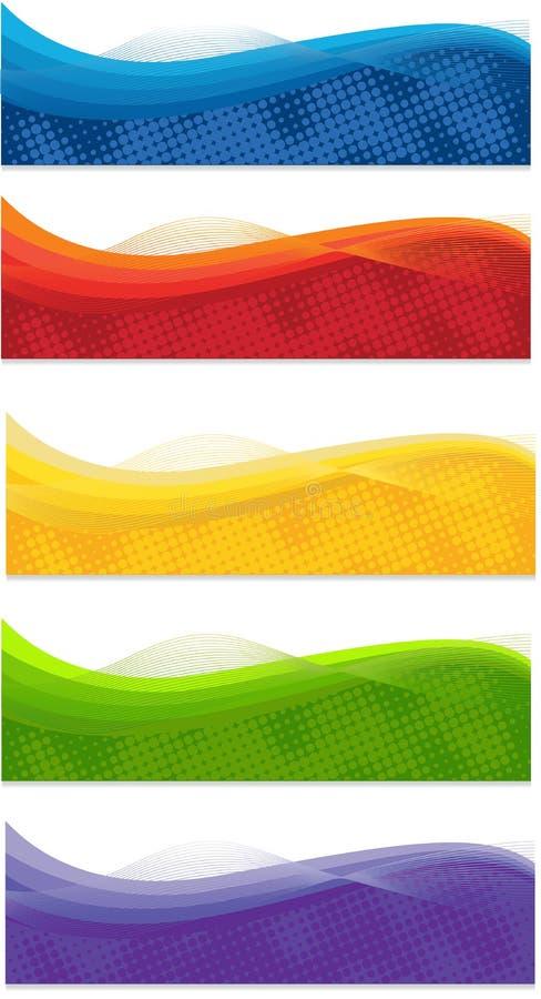 Sieć sztandary ilustracji
