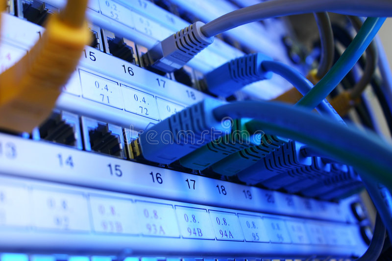 sieć telewizji kablowej obraz stock