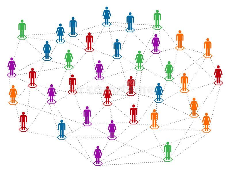 Sieć w kolorach ilustracji