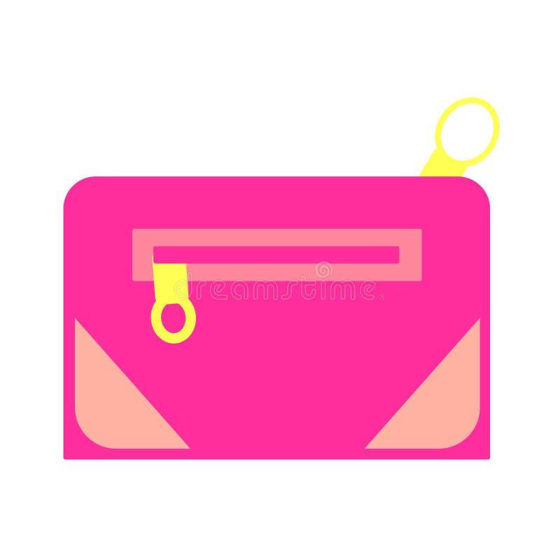 Sieć wektorowy kosmetyk, uzupełnia kolorowe jaskrawe podróży torby ilustracji