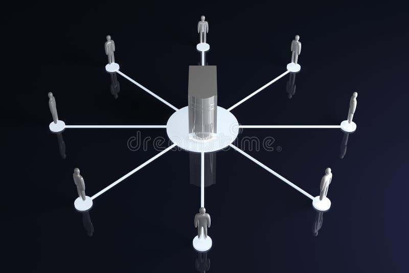 sieć współpracy royalty ilustracja