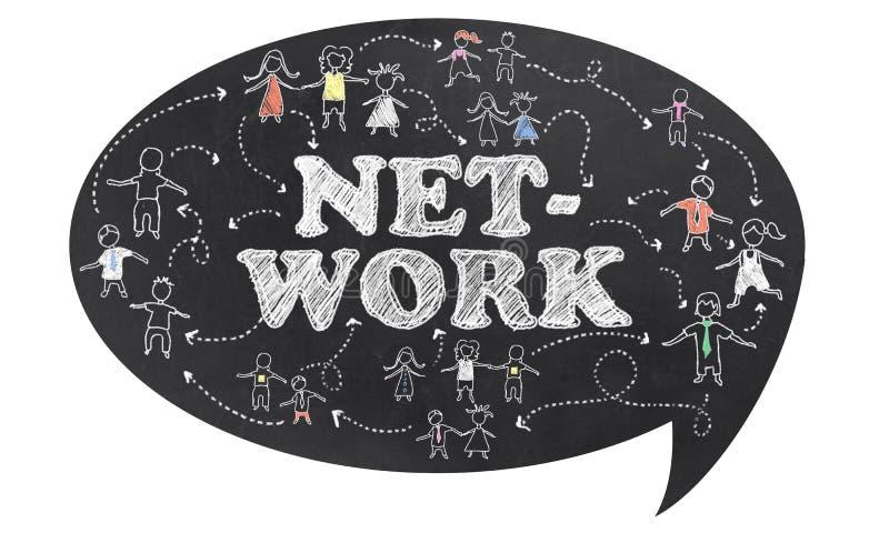 Sieć z ścinek ścieżką ilustracja wektor