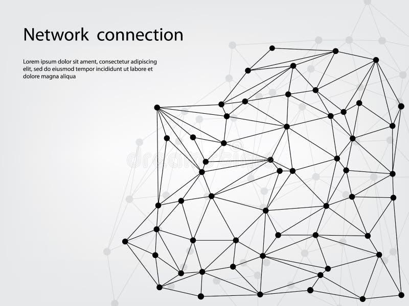 Sieć związek ilustracji