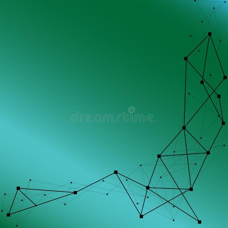 Sie? Abstrakcjonistyczny stubarwny geometryczny wz?r Geometrii akcyjna wektorowa ilustracja Bezszwowy wzór w fiołku i purpurach b ilustracja wektor