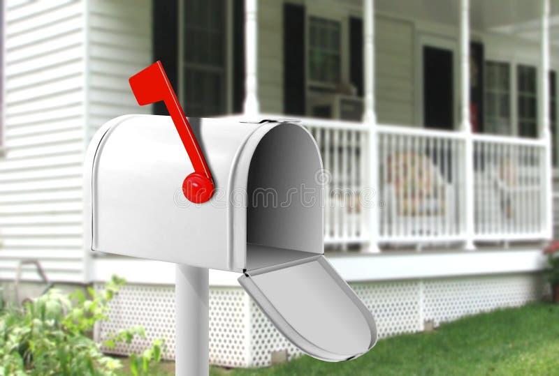 Sie erhielten Post stockbild