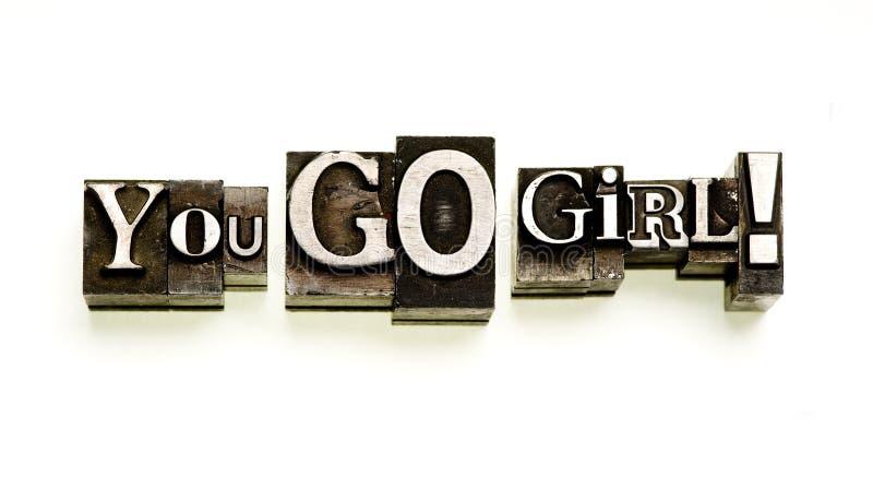 Sie gehen Mädchen! lizenzfreie stockbilder