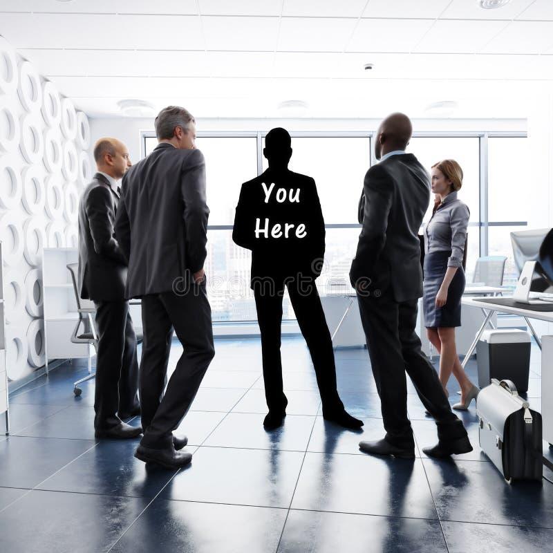 Sie hier Konzept Finden Ihrer Geschäftsidentität durch Führung, Teamwork, Ehrgeiz ect vektor abbildung