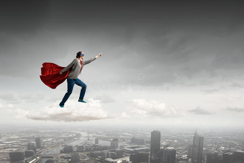 Sie ist Superfrau stockbilder