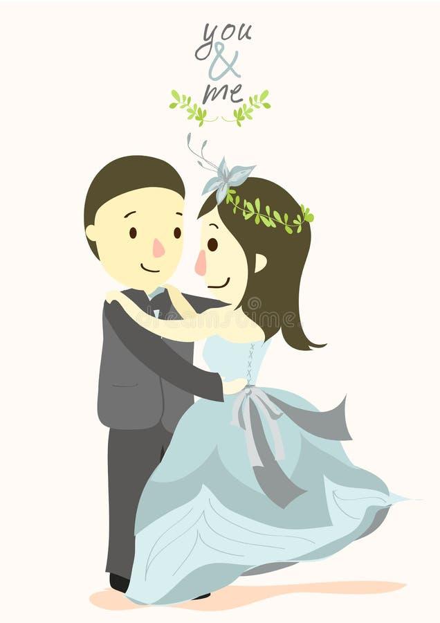 Sie und ich Hochzeitskarte 03 stockfotos