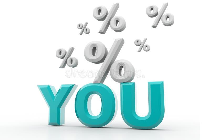Sie und Prozentsatz lizenzfreie abbildung