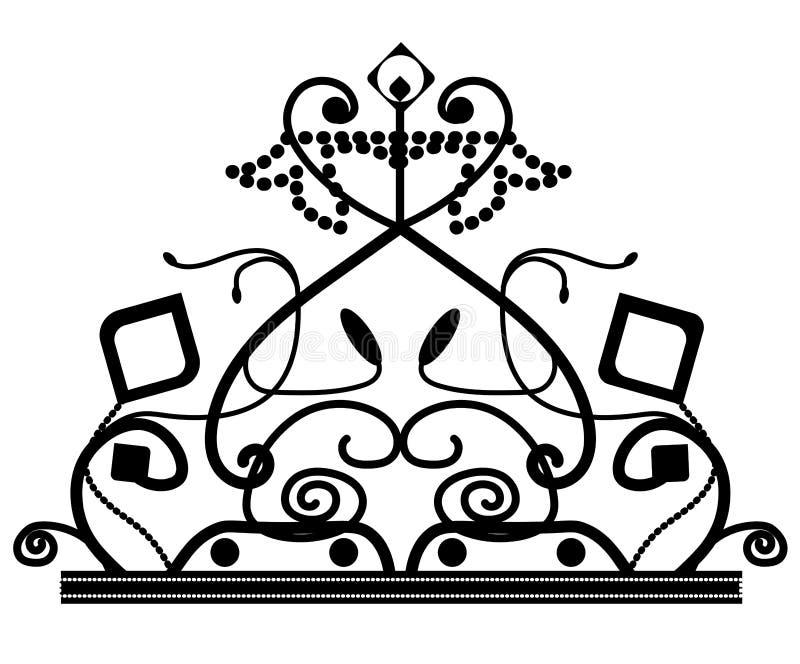 Sie? wektorowa elegancka dekoruj?ca korona logo ikona z gwiazd? odizolowywaj?c? ilustracja wektor