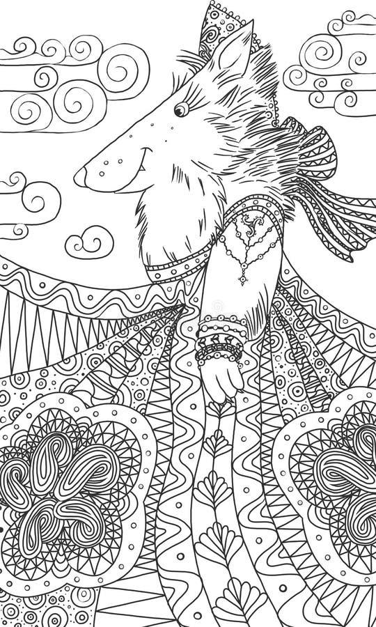 Sie-Wolf in sundress stock abbildung