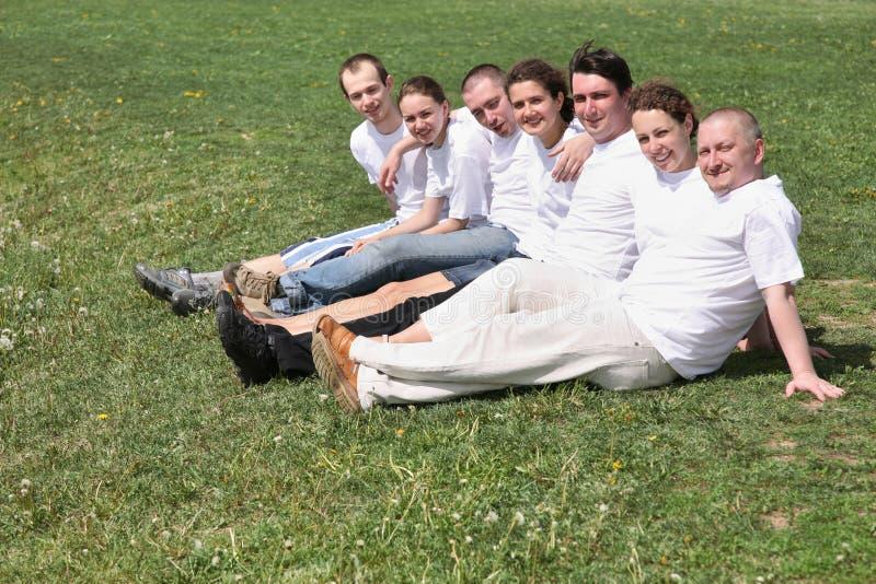 Sieben Freunde lizenzfreies stockfoto