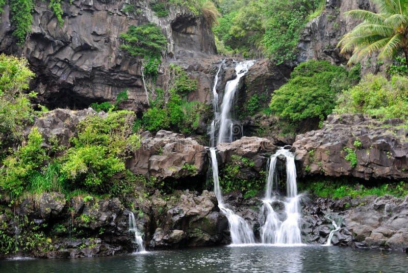 Sieben heilige Pools Ohio, Maui, Hawaii stockfotos