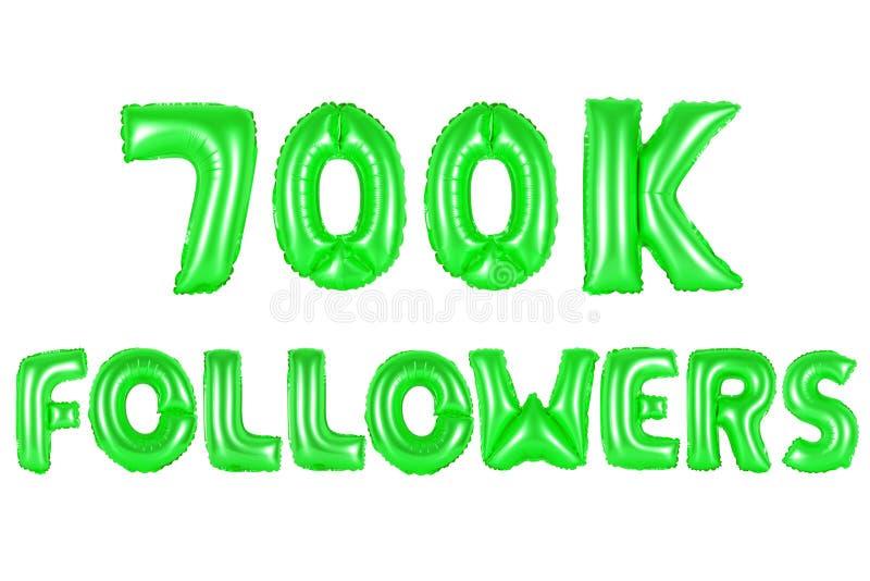 Sieben hundert tausend Nachfolger, grüne Farbe stockfotografie