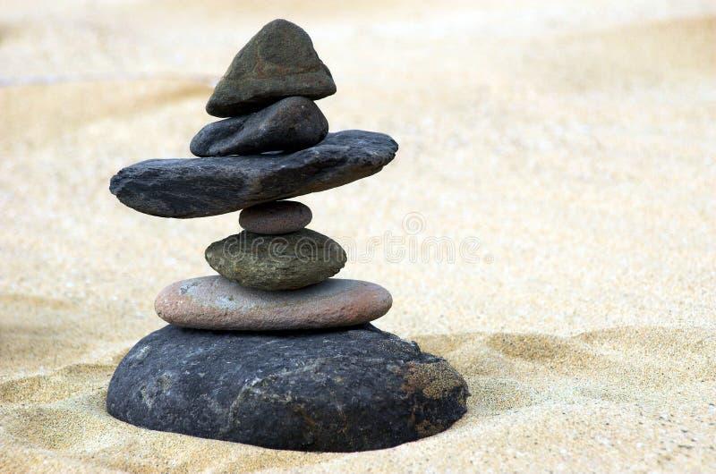Sieben Steine stockfotos