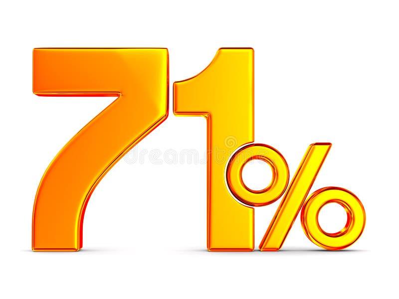 Siebzig eine Prozent auf wei?em Hintergrund Lokalisierte Illustration 3d lizenzfreie abbildung