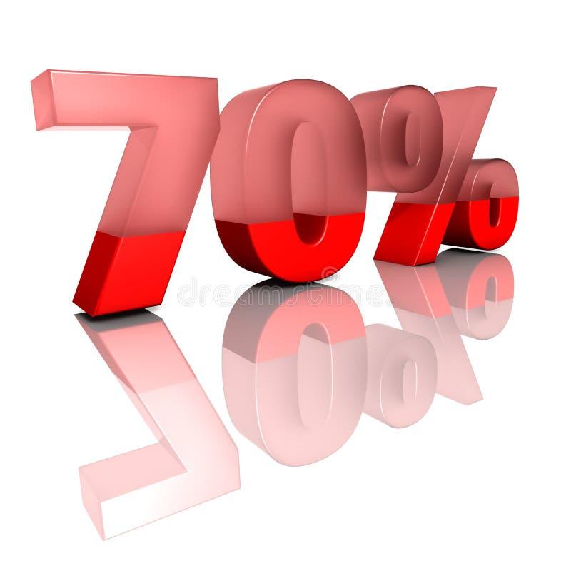 Siebzig Prozent stock abbildung